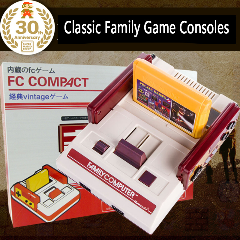 CoolBady Video Game Console RS-35 FC Red White Classic Family Game machine TV Game Consoles Yellow Card Plug-in Card Games juego(China (Mainland))
