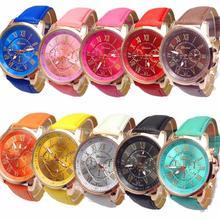 2016 Fashion Yoner Watch 10pc Women's Wholesale Roman Numerals Faux Leather Analog Quartz Watch
