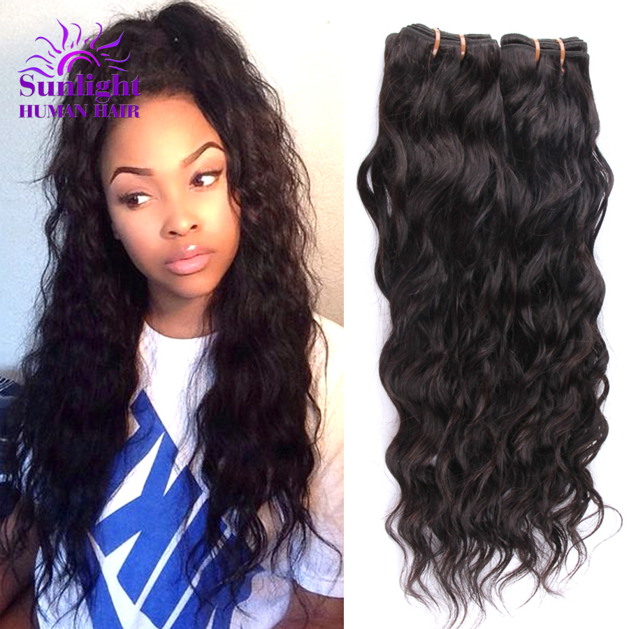 Brazilian Virgin Hair 4 Bundles Brazilian Water Wave Wet ...