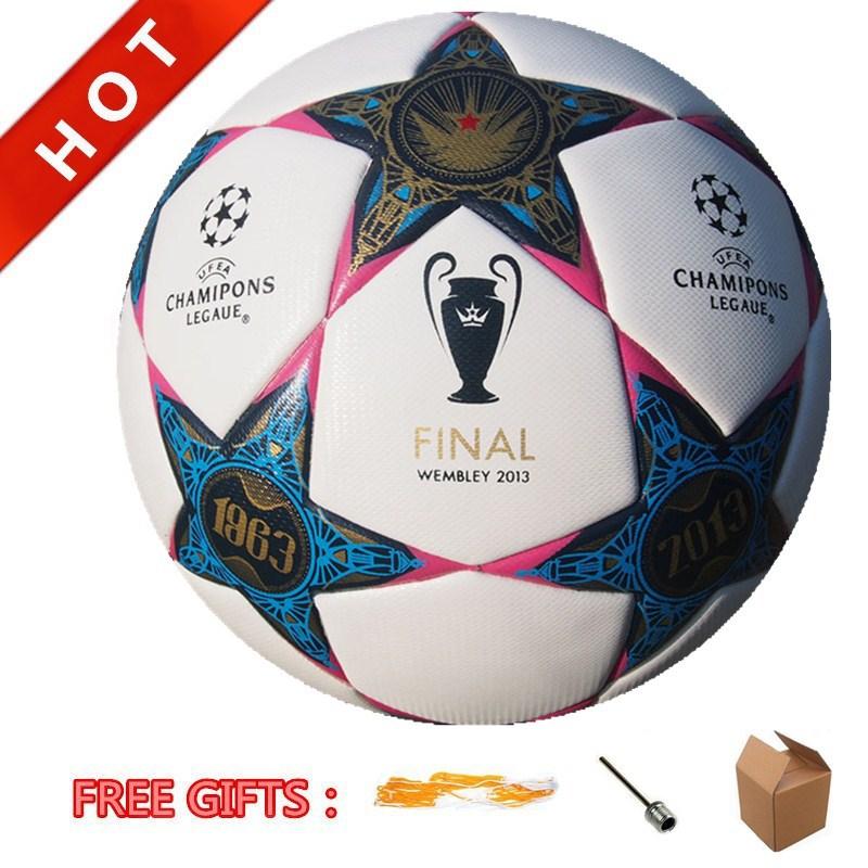 2013 Champion League Soccer Ball Official Size 5# PU Laminated Match Ball Football Anti-Slip Wholesale And Freeshipping(China (Mainland))