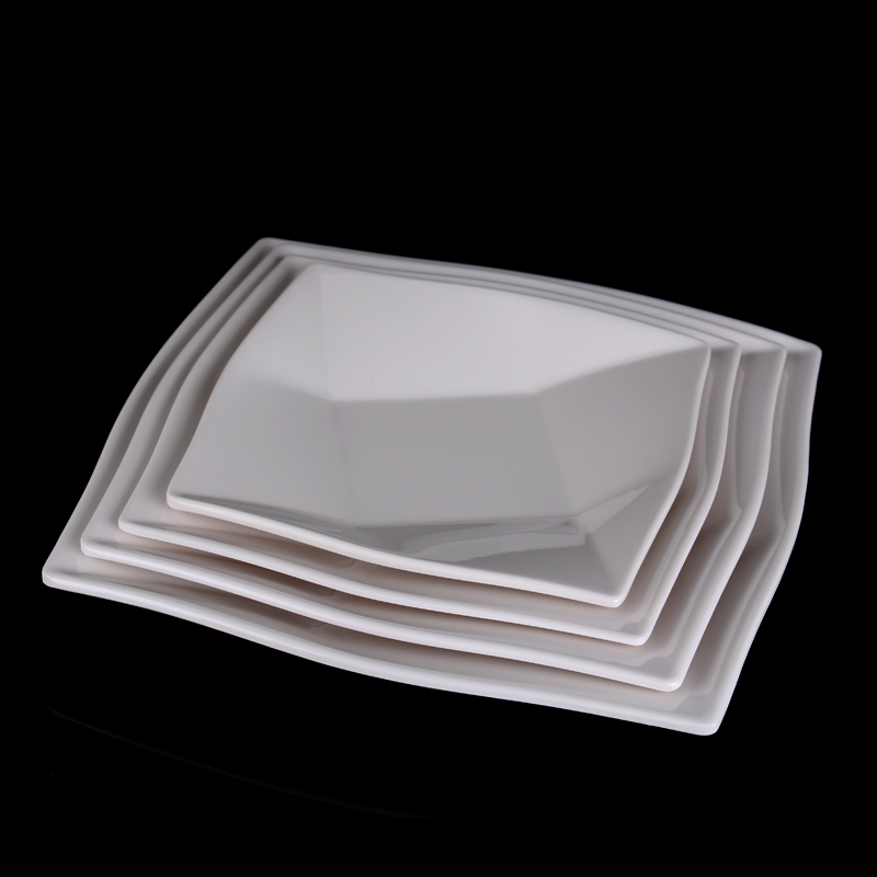 plastic plates white square buy cheap plastic plates white square