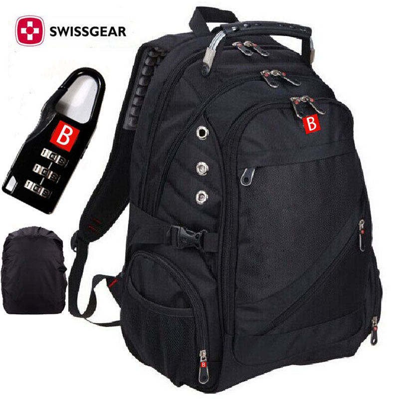 Fashion Brand Wenger Swissgear Backpack sac a dos Men's Travel Hiking Bag Laptop Waterproof Swiss Army Computer MC Backpack(China (Mainland))