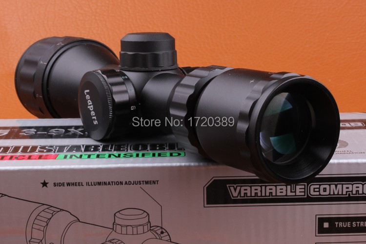 UTG 4x32 Leapers Tactical Red and Green Mil dot Lens Hunting Optical Riflescope Sight Scope with