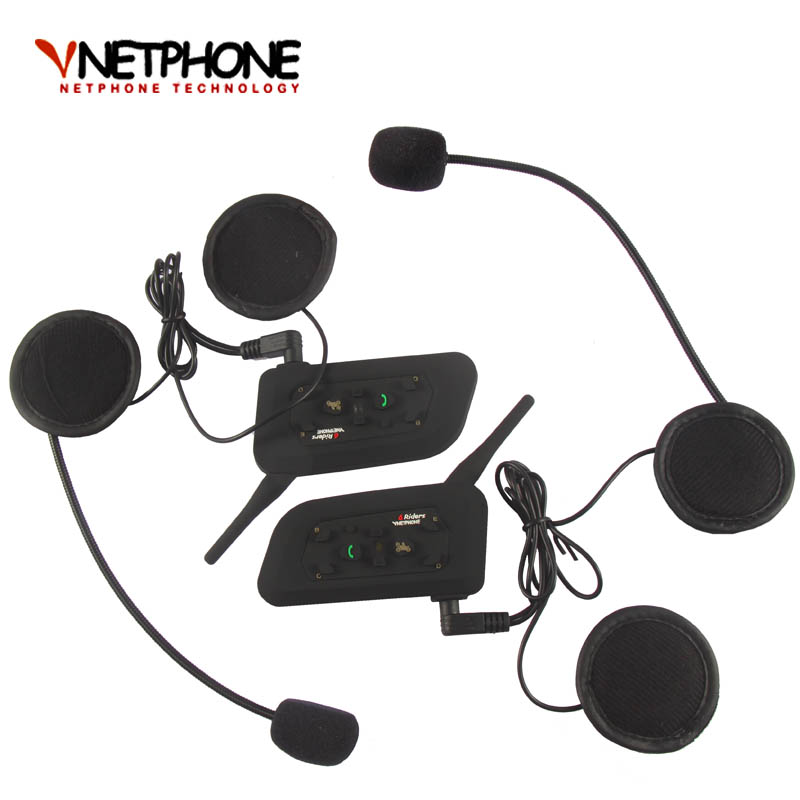 Free Shipping One Pair DK118-V6  1000m Motorcycle Helmet Bluetooth Intercom For