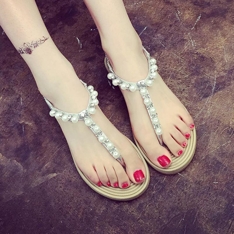 2015 New summer shoes woman sandals women sandal for women flats flip flops Wedges sandal Girl women sandy beach