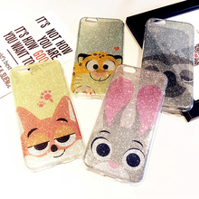 Buy Zootopia Rabbit Judy Fox Sloth Lion Phone cases iPhone 7 7Plus 7+ Glitter Bling TPU Soft Case iPhone 6 6s 6plus 6splus for $4.86 in AliExpress store