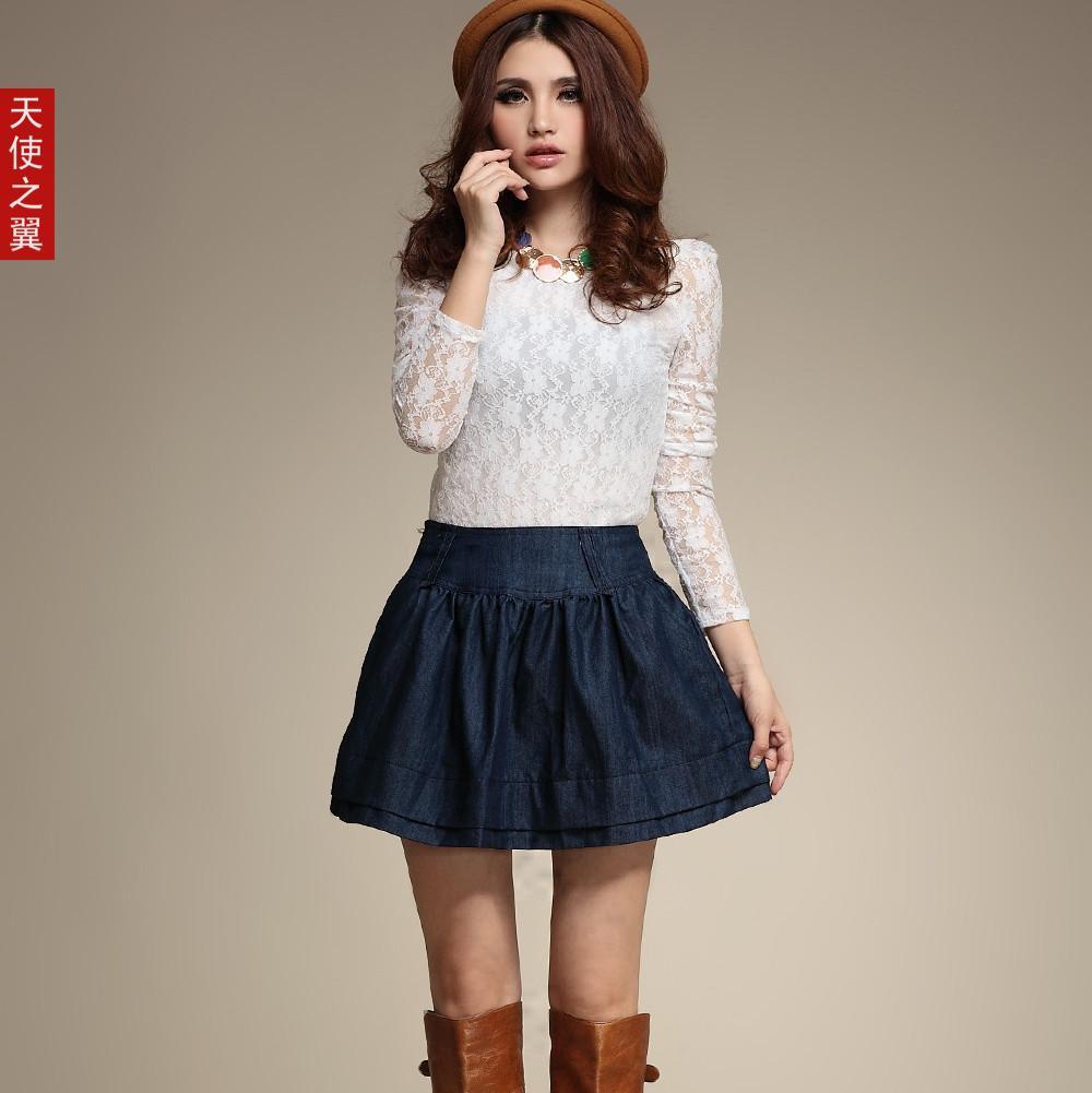 Luxury Sexy Mini Short Denim Skirt For Women Black Red Korean Skirts Womens
