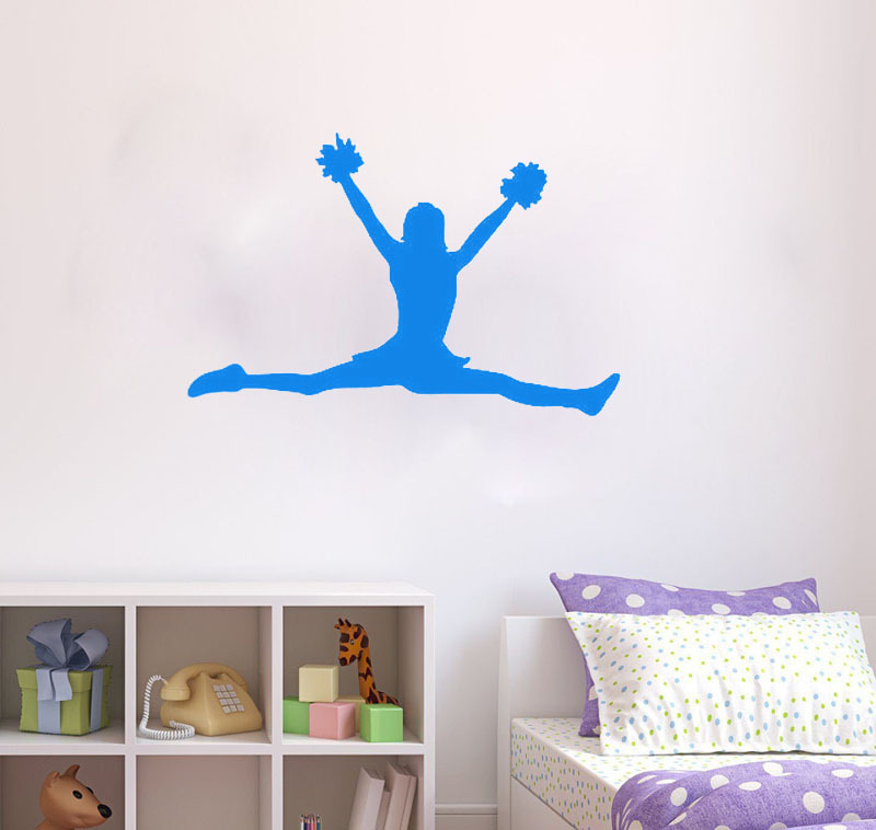 Online get cheap cheerleading wall decor for Cheerleader wall mural