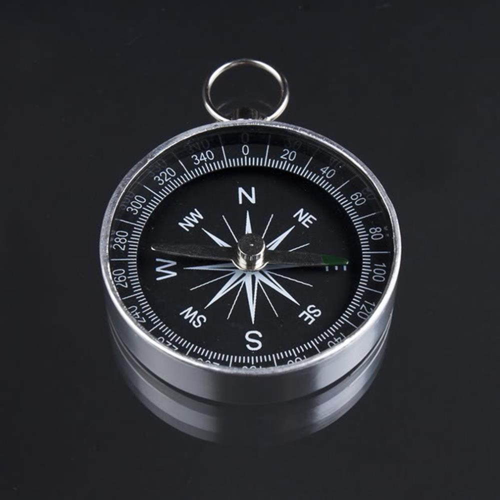1pc Pocket Mini Camping Hiking Compasses Lightweight Aluminum Outdoor Travel Compass Navigation Wild Survival Tool Black(China (Mainland))