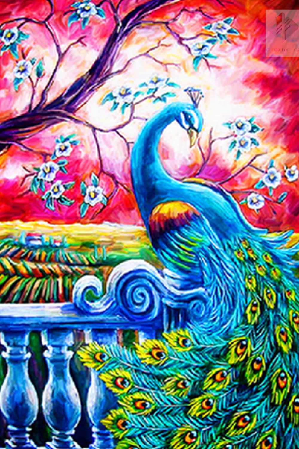 peacock Full drill diamond embroidery painting cross stitch painting home decoration 3D kits diamond mosaic wall paint