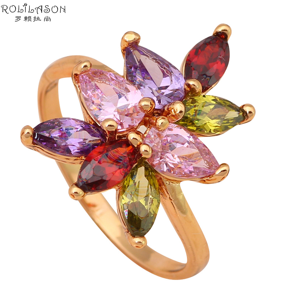 Welcome to Buy fashion Jewelry Nickel & Lead Free Color Crystal Zircon 18k k gold plated Rings size #6 #7.75 JR1675(China (Mainland))