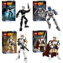 Star Wars series 4pcs/set Jango Commander Obi-Wan Kenobi Skywalker figures 712 Building Block toys Compatible With Lego LR-741