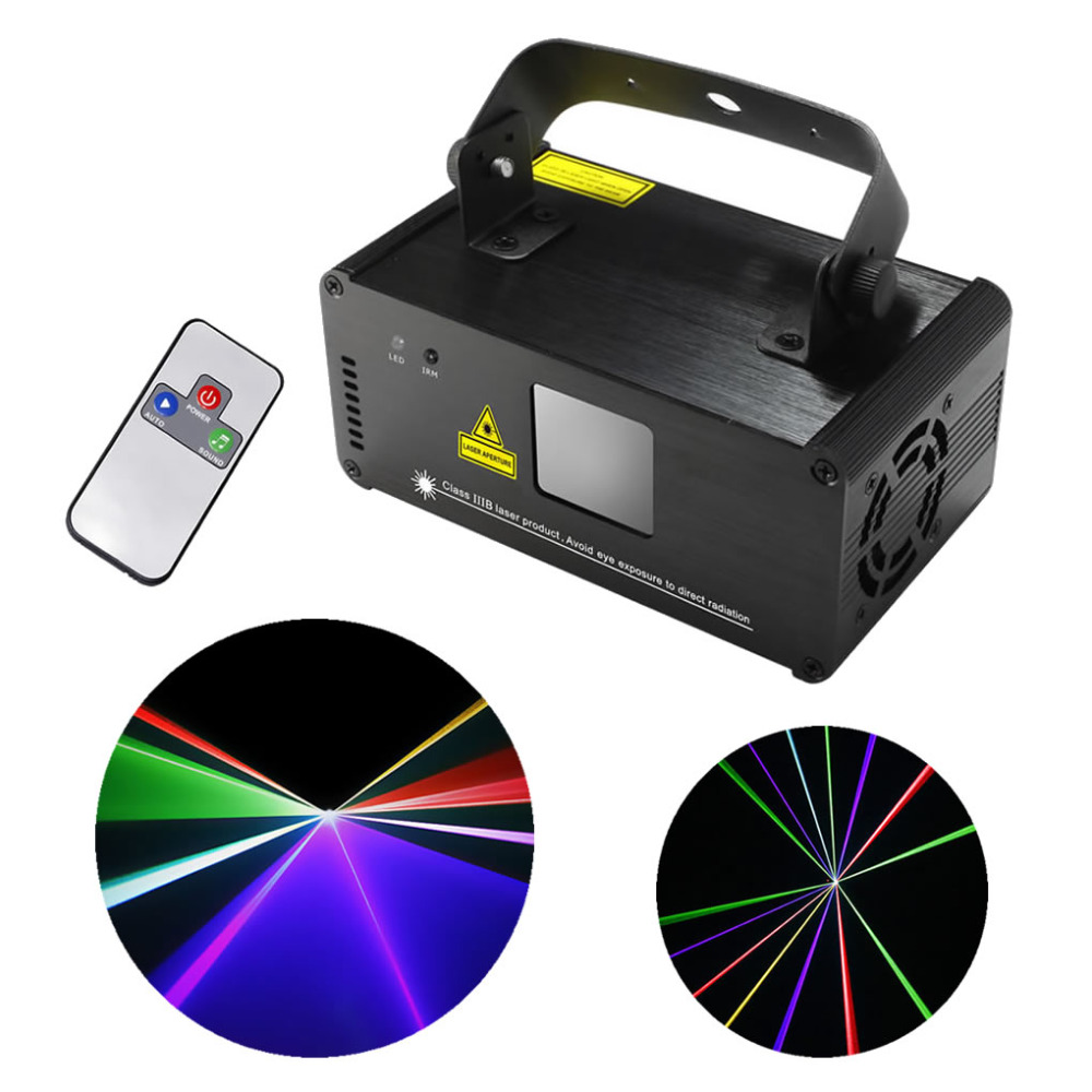 New IR Remote DMX 512 Mini 400mW RGB Full Color Laser Stage Lighting Scanner DJ Dance Party Show Projector Lights DM-RGB400(China (Mainland))