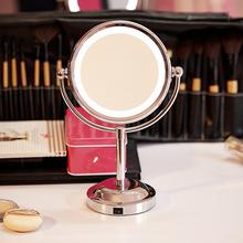 6 Zoll Led Professionellen Make-Up Spiegel Mit Led-Licht Verwenden 3 stücke Aa-batterie Tragbaren Spiegel Tisch Ständer Vergrößerungsspiegel(China (Mainland))