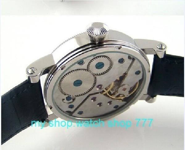 ПАРНИС 44 мм Механическая Рука Ветер движения мужские часы Мода часы 2016 новая мода moon phase Механические Наручные Часы