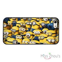 Minions Collage Dispicable Me back skins mobile cellphone cases for iphone 4/4s 5/5s 5c SE 6/6s plus ipod touch 4/5/6
