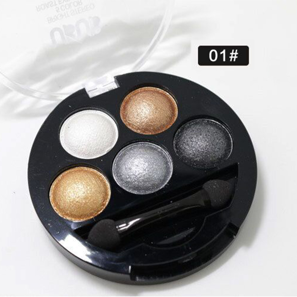 New 5 Colors Baked Eyeshadow pallets naked smokey makeup brand cosmetic colorful pigment matte eye shadow powder palette(China (Mainland))