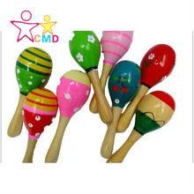 1pc Baby Kid Wooden Ball Toy Sand Hammer Rattle Musical Instrument Percussion Infant(China (Mainland))
