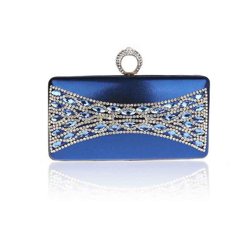 2015 New women bag finger ring diamond clutch bag fashion hard case chain evening bag black golden day clutche bolsa mujer XA43L<br><br>Aliexpress