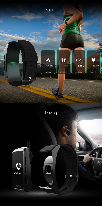 2017 new Jakcom B3 smart band watch new product of bluetooth earphone headphones With Custom Ear Plugs vs mi banda 2 smartband