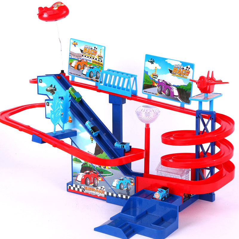 Electric thomas penguin stair electric slide magnetic music remote control car RC trains