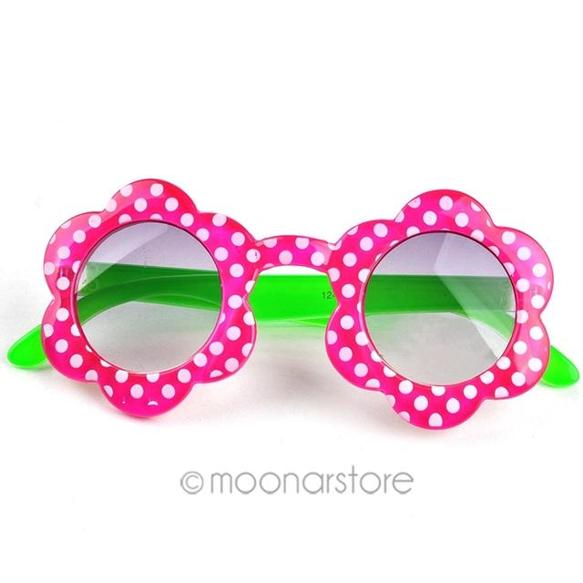 Сладкий мило горошек уф защита девушка солнцезащитные очки солнцезащитные цветы дети дети солнцезащитные очки аксессуары Y57 * HM441 # S7