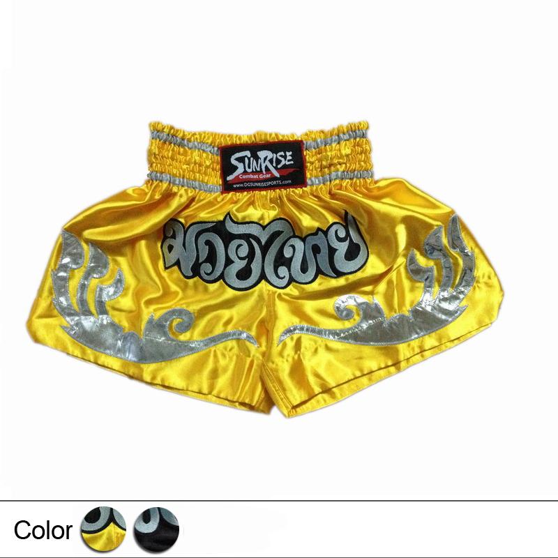 2015 New / Muay Thai shorts / boxers / Wushu Sanda training game /Boxing Trunks(China (Mainland))
