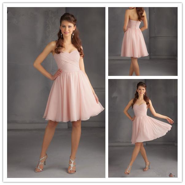 Drop ship cheap short blush bridesmaid dresses 2015 short for Short blush pink wedding dresses