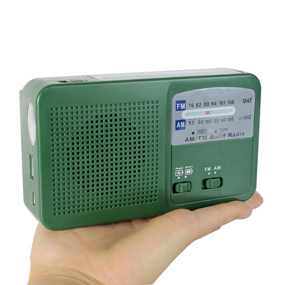 Dynamo Radio Generator FM / AM Solar Crank Power Flashlight Emergency Charger FM Radio Y4346G(China (Mainland))