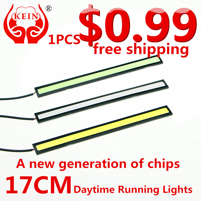 KEIN (R) 1 PCS 17CM LED cob DRL car daytime running lights car modification car styling led drl daytime running light(China (Mainland))