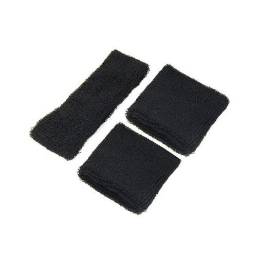 Wholesale 5* Neon Black Head & Wrist Sweatband Set for Gym Yoga Running Sports(China (Mainland))