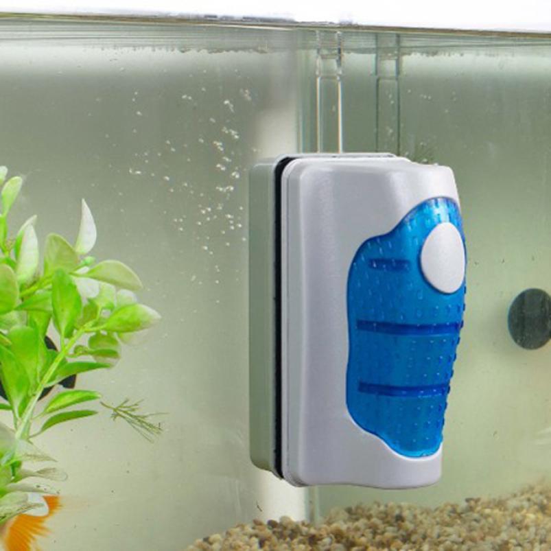 New Qualified Magnetic Brush Aquarium Fish Tank Glass Algae Scraper Cleaner Floating Curve Jan9(China (Mainland))