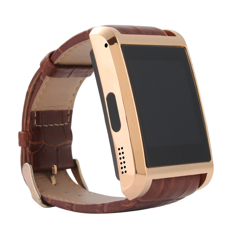 2016 New Smartwatch F8 Bluetooth Smart watch Men Watch Leather Wristwatch Mobile phone Watch For iPhone Samsung Android Phone(China (Mainland))