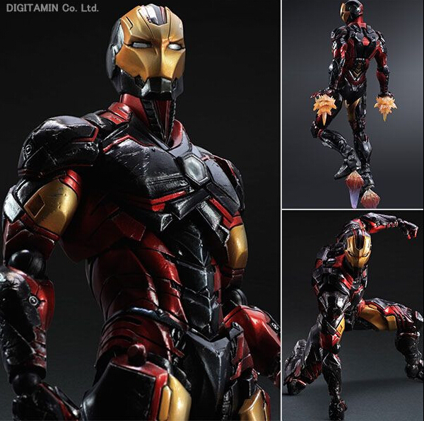 Iron Man Action Figure Play Arts Kai Iron Man 270MM Collection Model Brinquedos Iron Man Play Arts DC PVC Figure Toys Boy Gift(China (Mainland))