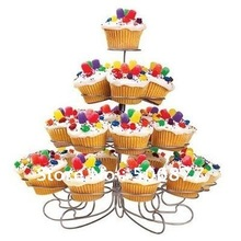 Buy New Spin Dessert Cupcake Stand Tree Holder Muffin Serving Birthday Cake 23 Cup Party 4 Tier for $25.49 in AliExpress store