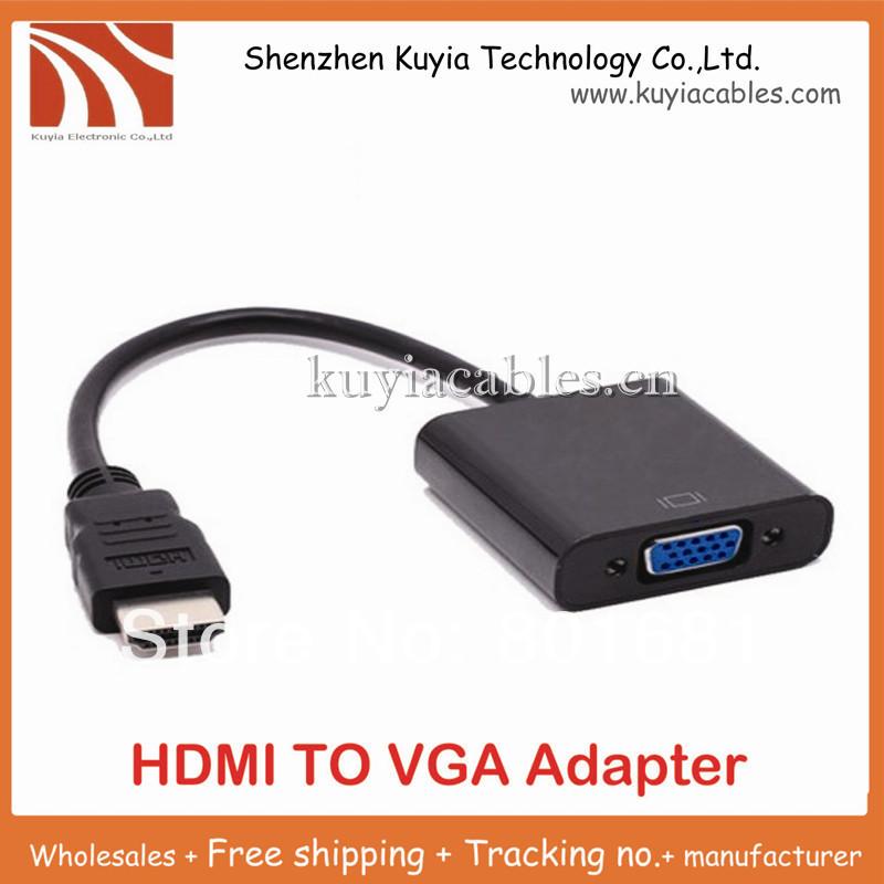 Shipping by DHL 200pcs/lot HDMI TO VGA Cable,hdmi to vga adapter,HDMI to VGA Converter,HDMI Male to VGA Female Connector(China (Mainland))
