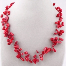 Coral Jewelry for Women Fashion Style Red Coral Necklace Jewelry(China (Mainland))