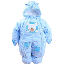 Autumn & Winter Newborn Infant Baby Clothes Fleece Animal Style Clothing Romper Baby Clothes Cotton-padded Overalls CL0437(China (Mainland))