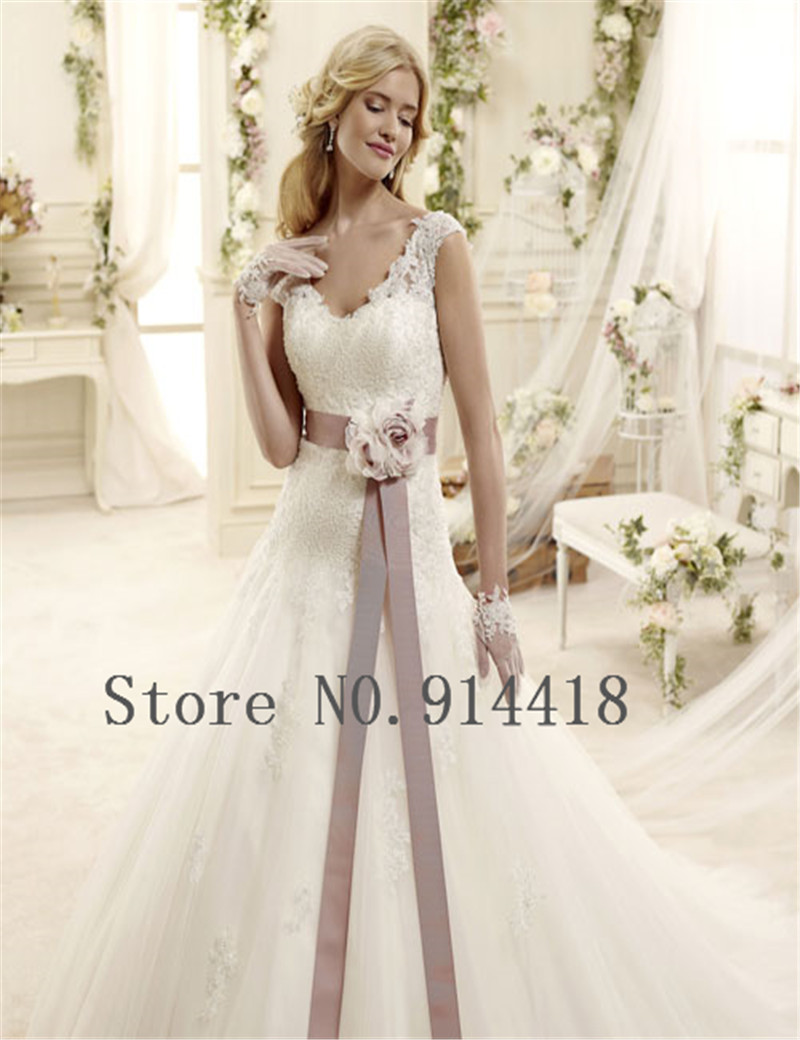 Sexy v neck zipper back plus size wedding dress lace for Tailor made wedding dress