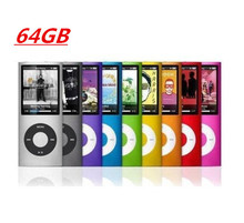 Slim 1.8' 4th has 64GB memory 9Colors for choose mp3 player Music playing time Fm radio ebook video player mp3 player fm(China (Mainland))