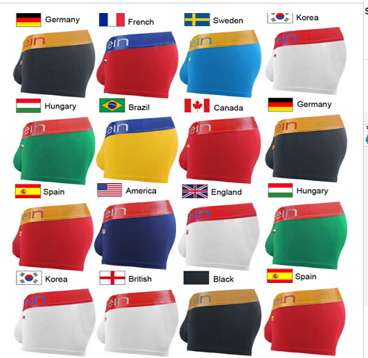 wholesale 2015 Hot sale Brand cuecas Calvin men underwear sexy Gay boxers shorts modal spandex flag underwear size M-XL(China (Mainland))