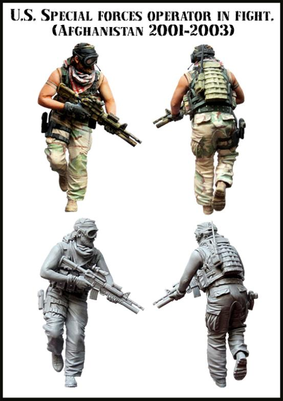 1/35 Modern American Special Forces War in Afghanistan Resin Model Assembly Model Second World War Model WWII WW2(China (Mainland))