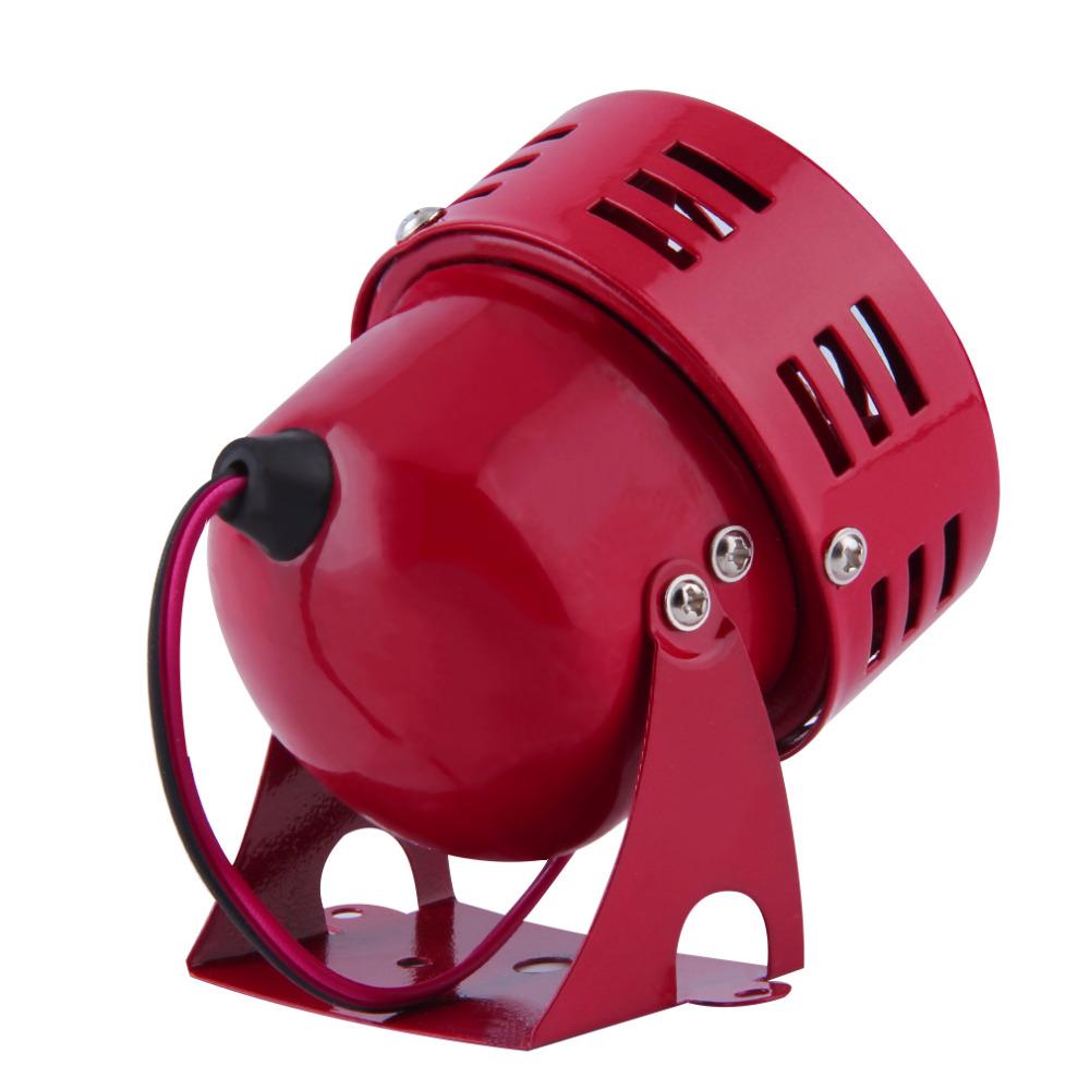 Easy mounting 12V Automotive Motorcycle Horns Air Raid Siren Horn Car Truck Motor Driven Alarm Red Universal Car Horns Speaker(China (Mainland))