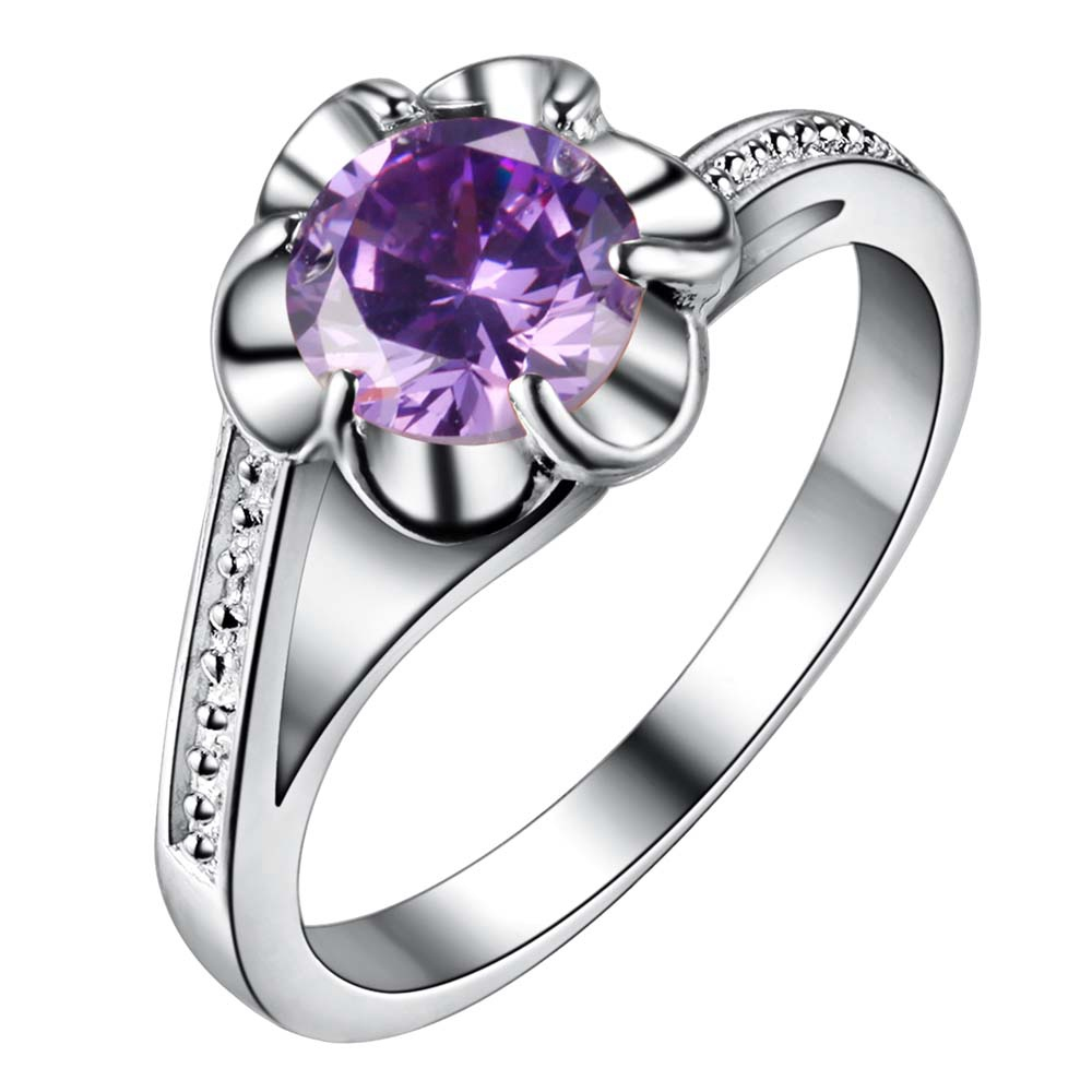 purple zircon bling Silver plated Ring Fashion Jewerly Ring Women&Men, /QZFOXXHH YHAXFHFJ
