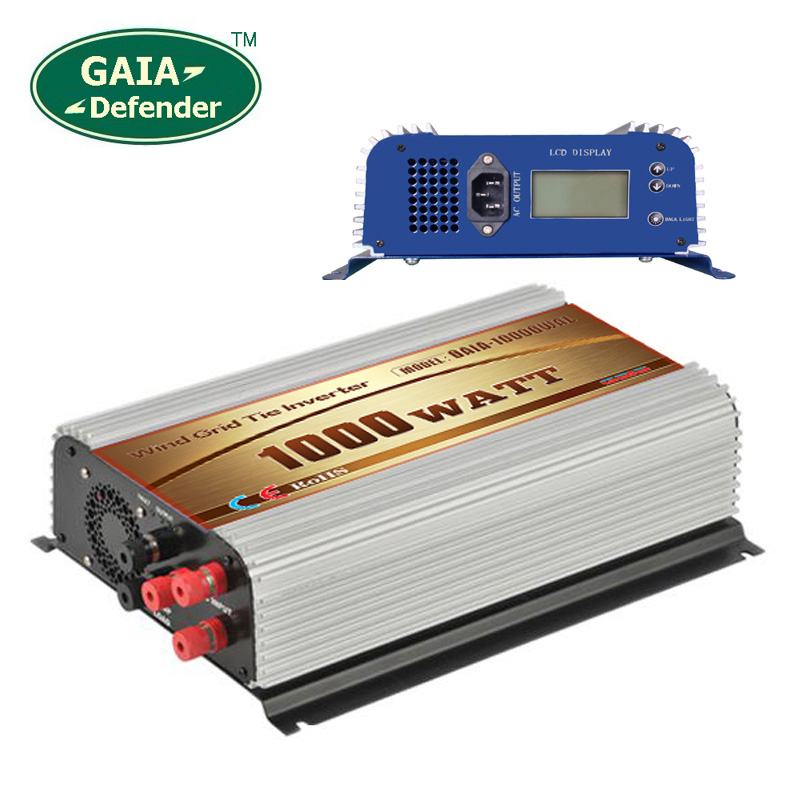 1000W LCD display Wind Power Grid Tie Inverter with Dump Load Controller for 3 Phase wind turbine(China (Mainland))
