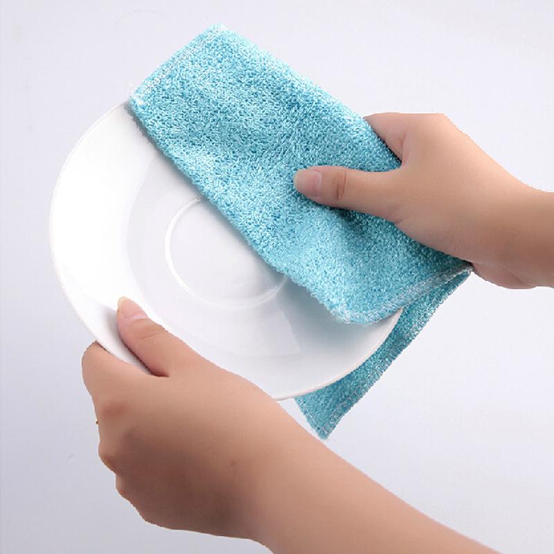 20pcs Lot Multi Color Magic Bamboo Fiber Washing Dish