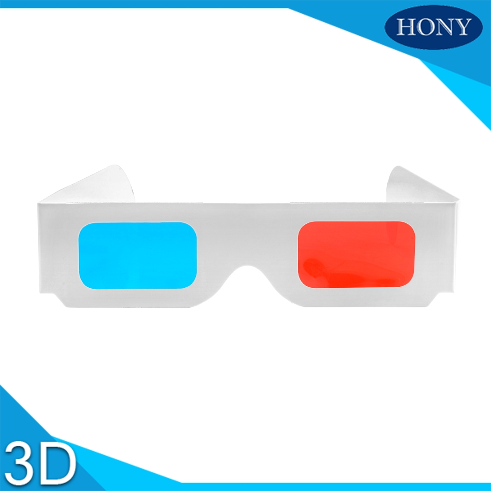 lowest price Paper Red Blue 3D Glasses PA0001RC used in 3D books,magazines computer, normal 5pcs/lot(China (Mainland))