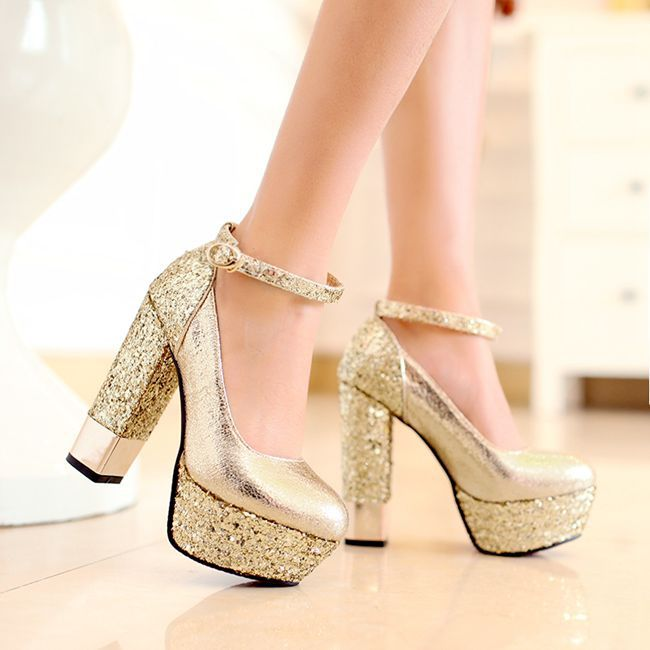 Aliexpress.com : Buy 2014 New Sexy Gold Silver High Heels Party