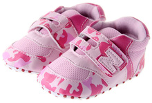 From Factory Directly Hot Selling pink camouflage Baby Girls Sneakers First Walkers Toddler Shoes #hs131(China (Mainland))