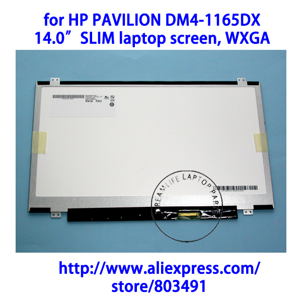 "for HP PAVILION DM4-1165DX laptop, 14.0"" WXGA HD, Slim/Ultra thin, LED LCD Screen, 1366*768 pixels(China (Mainland))"
